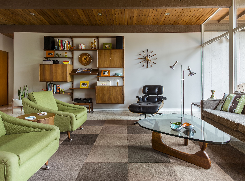 Minimalist Mid Century Modern Living Room Unique Interior Design
