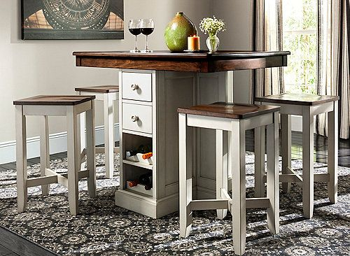 Shea 5 Pc Counter Height Dining Set Counter Height Dining Sets