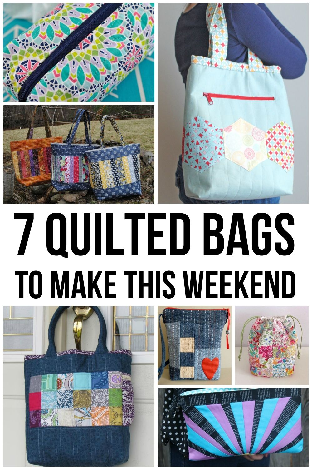 Weekend Warriors: 7 Quilted Bag Patterns | Bag, Patterns and Purse : how to make quilted tote bags - Adamdwight.com