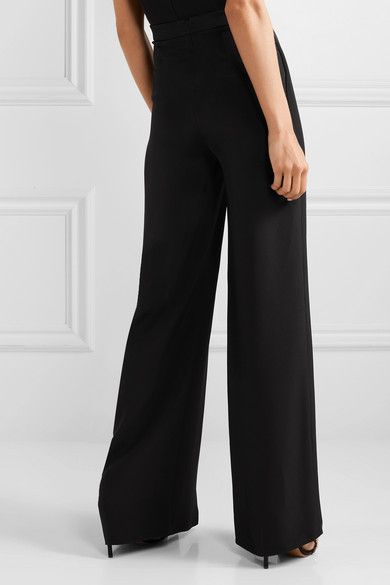 Photo of Cushnie – Pantaloni a gamba larga plissettati in crepe di seta