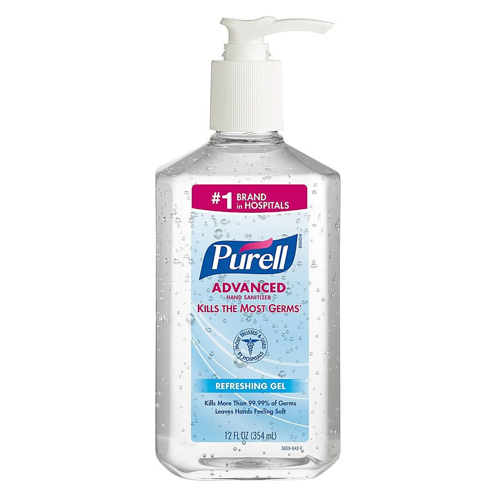 Purell Instant Hand Sanitizer 12 Oz Pump Bottles Carton Of 12