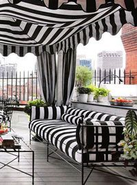 Black And White Sunbrella Awning Fabric