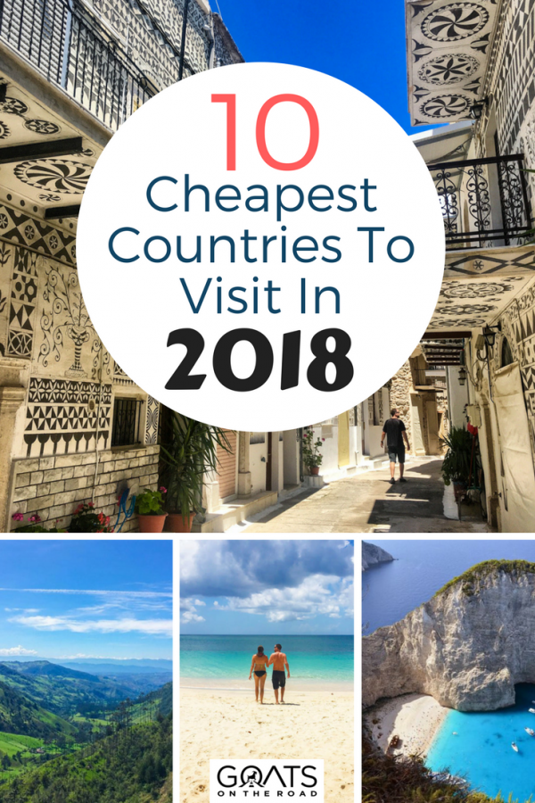 Are you planning a RTW trip or a gap year? Here's your budget travel guide to the cheapest countries in the world to help with your travel itinerary planning | #traveltips #travelwell4less #backpacking #bestintravel #wanderlust #dreamdestinations #amazingplaces #cheaptravel #cheapcountries #budgettravel #gapyear #europe #world #CheapTravelDestinations