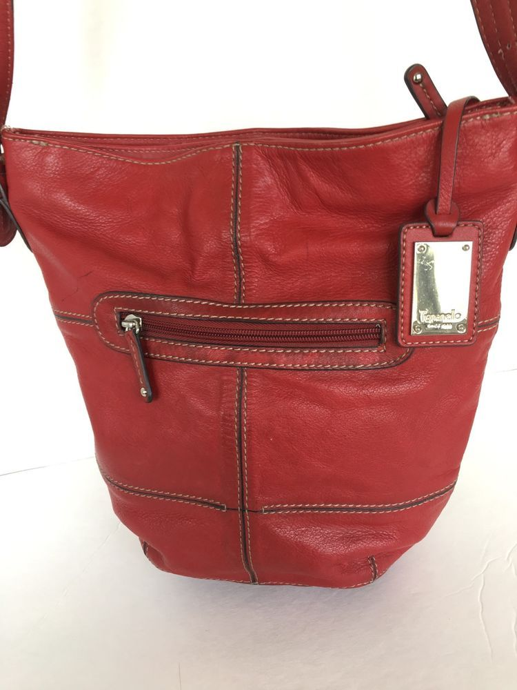 Tignanello Genuine Leather Bag Crossbody Burgundy Designer Fashion Ebay