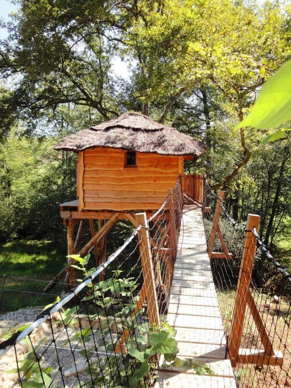 La case du ruisseau cabane dans les arbres pour 2 for Cabane dans la chambre