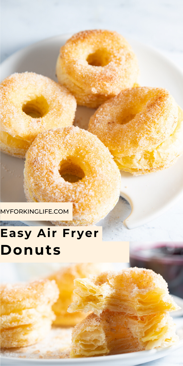 Flaky Air Fryer Donuts Recipe in 2020 Air fryer
