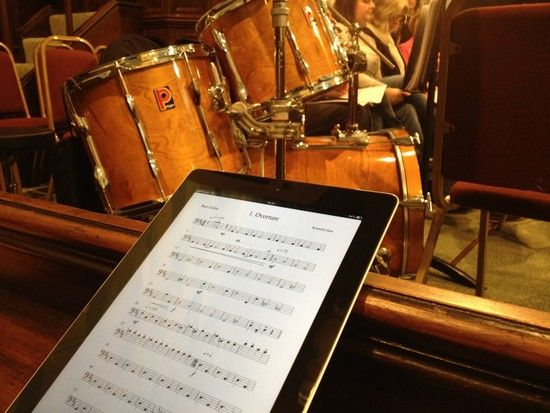 awesome use of ipad for music stand.
