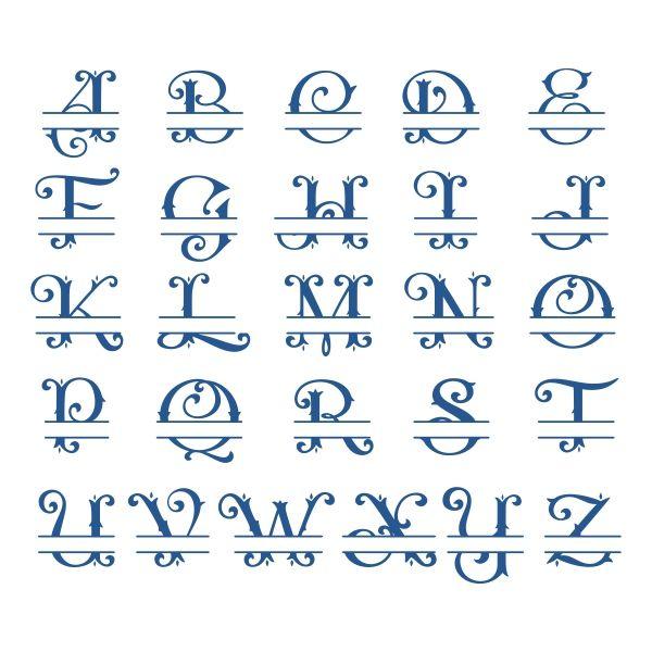 Download Image result for Cricut Split Monogram Fonts Free | Free ...