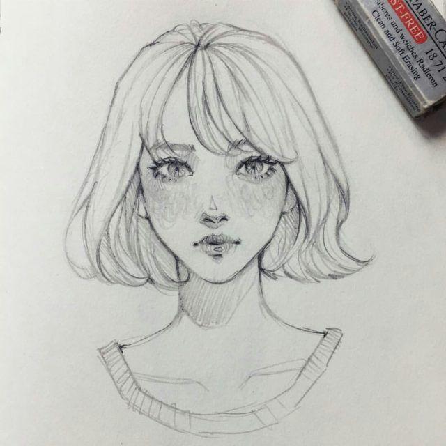 Картинки для срисовки девушки в стиле арт (34 фото ...