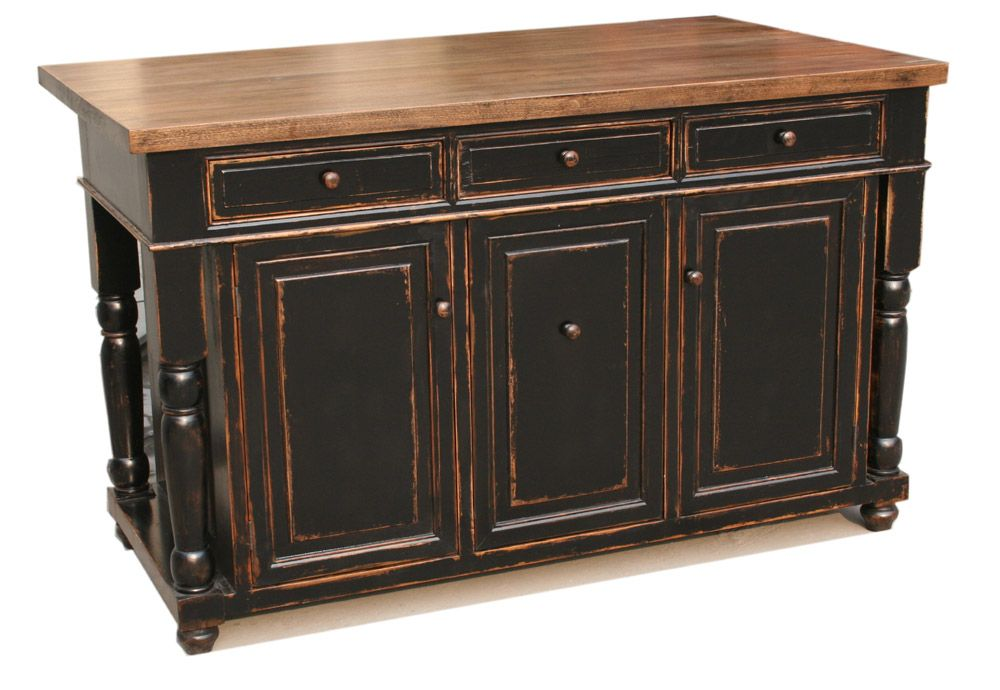 Classy distressed black kitchen island. Only $1149   Home ...