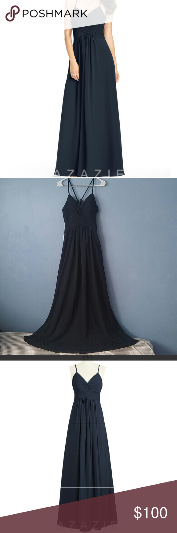 Azazie dress nwt simple back to and the two
