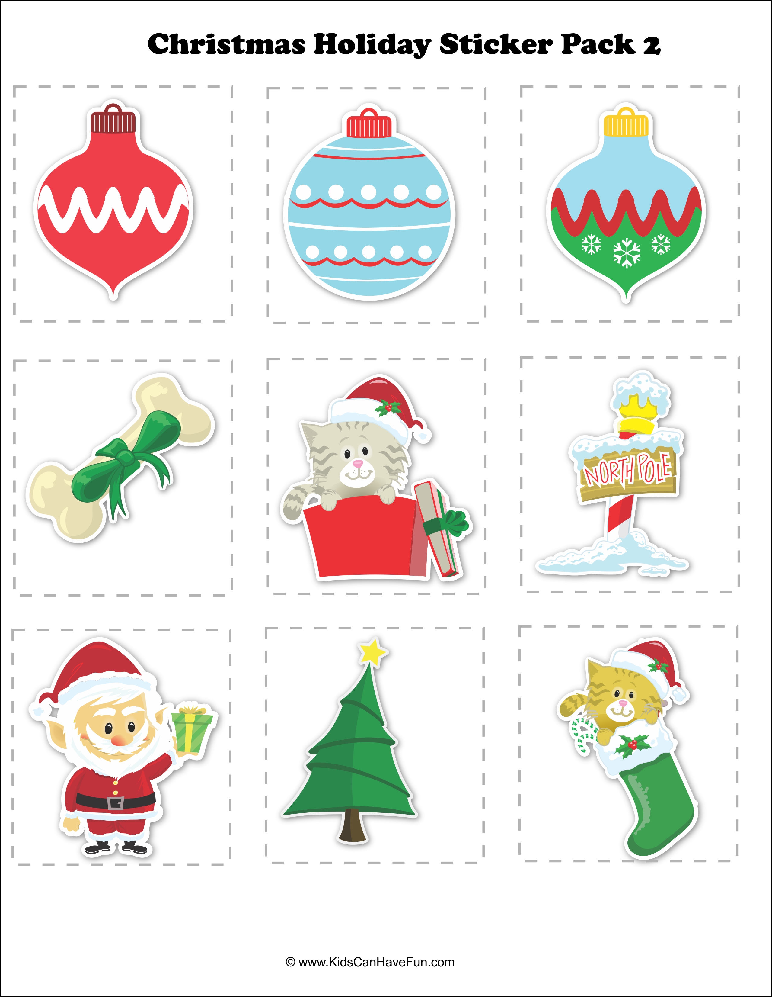 Christmas Holiday Sticker Pack 2