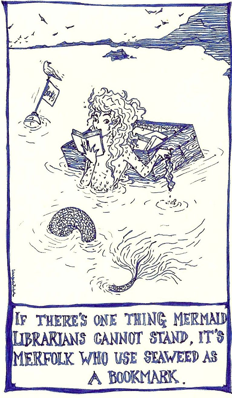 hight resolution of mermaids books bookmarks