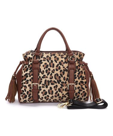 Look at this #zulilyfind! Leopard Charlotte Satchel #zulilyfinds