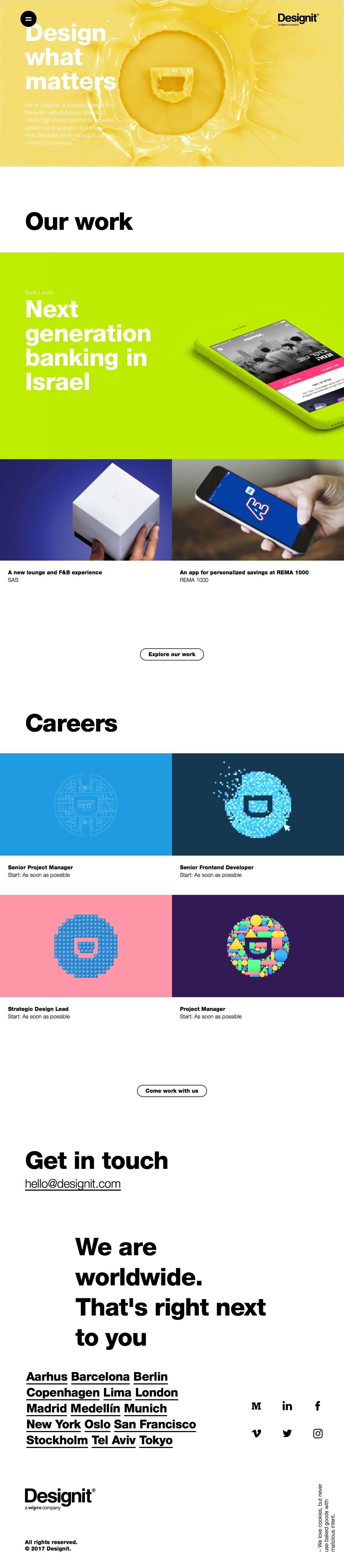 Designit - Design what matters | Lapa - Landing Pages Inspiration ...