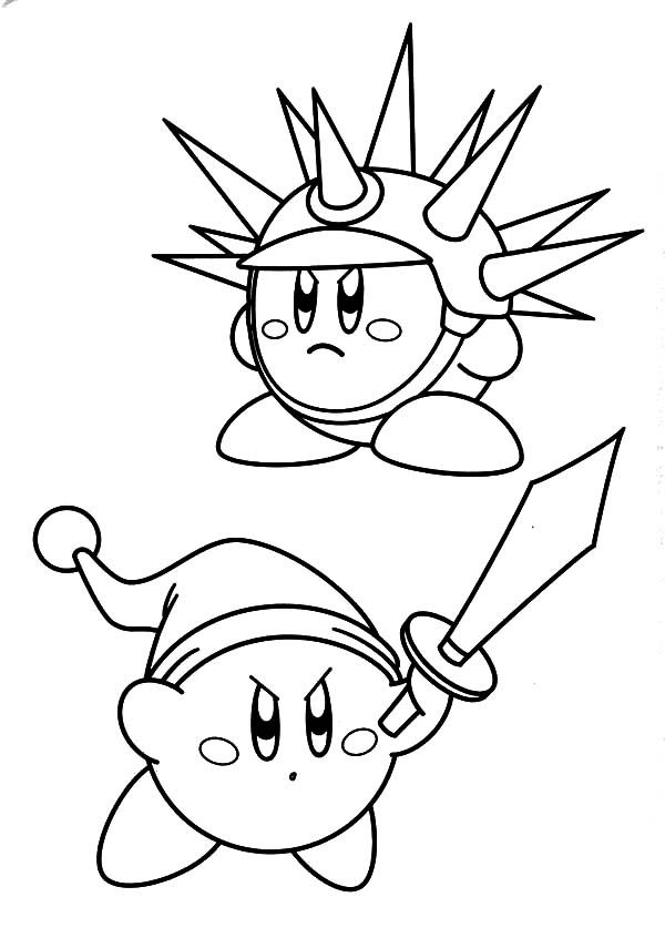 Pin Af Majamorkholt Pa Kirby Coloring Pages