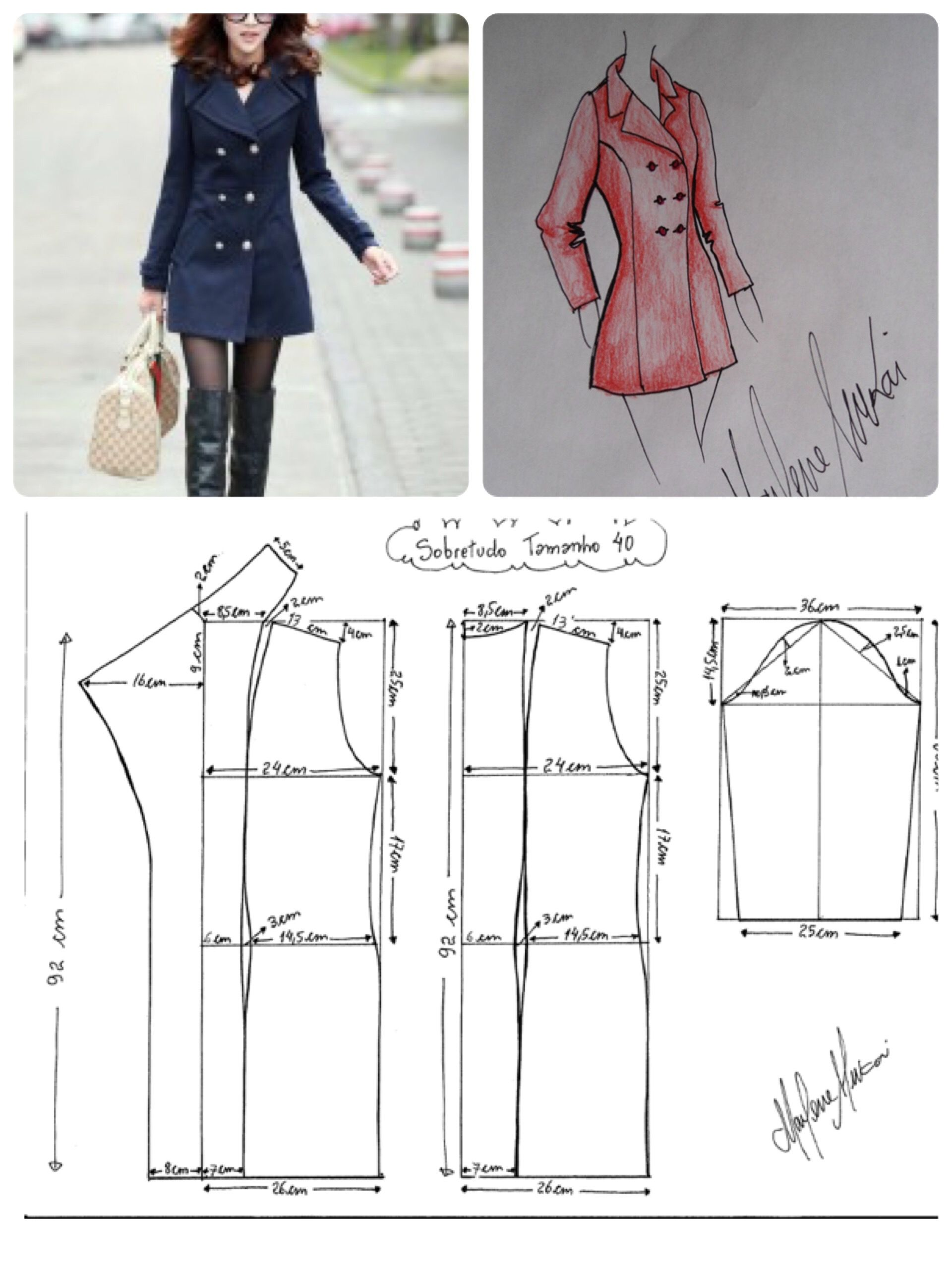Trench talle 40 | Patterns | Pinterest | Costura, Molde y Patrones