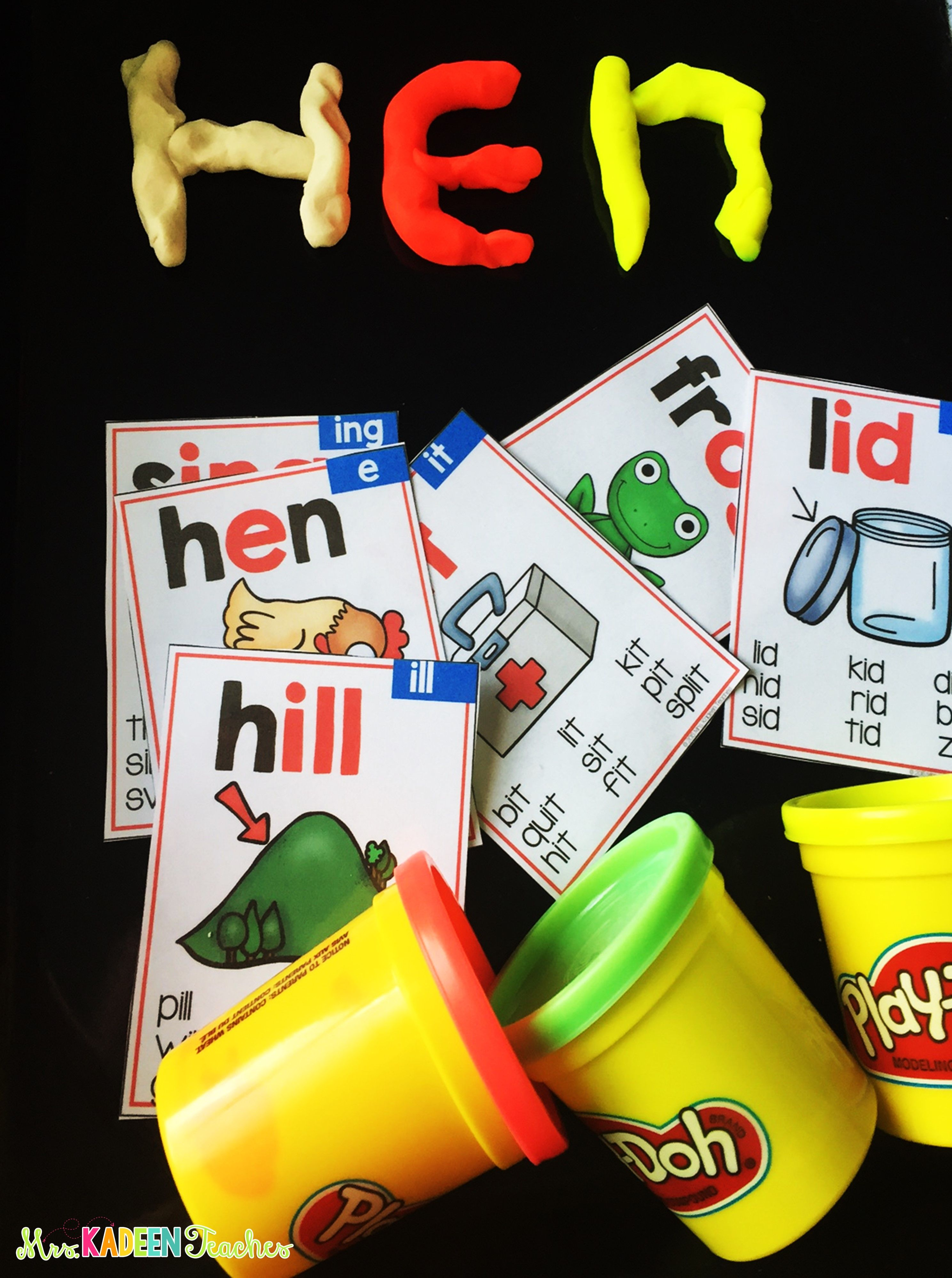Use Play Doh To To Make Target Phonics Words For The Week