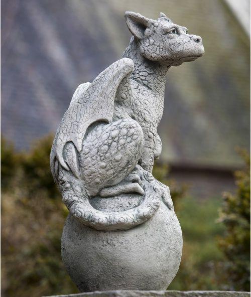 Campania International Eryl The Gargoyle Cast Stone Garden Statue   Garden  Statues At Hayneedle