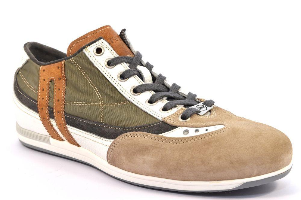 CAFè NOIR MRF910 554 MULTIVERDE Sneakers RF910 Uomo Scarpa Tessuto Cuoio  Beige 704db4ccfc0
