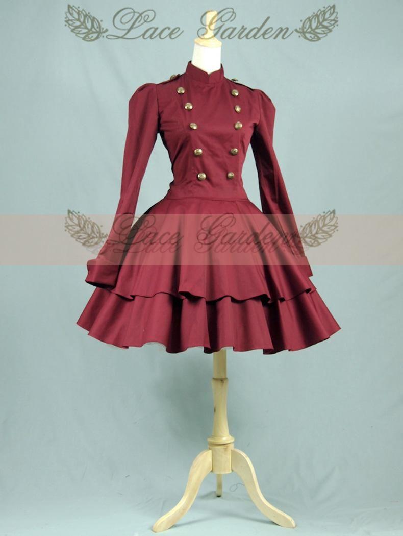 England button dress | Lolita | Pinterest | Catalog