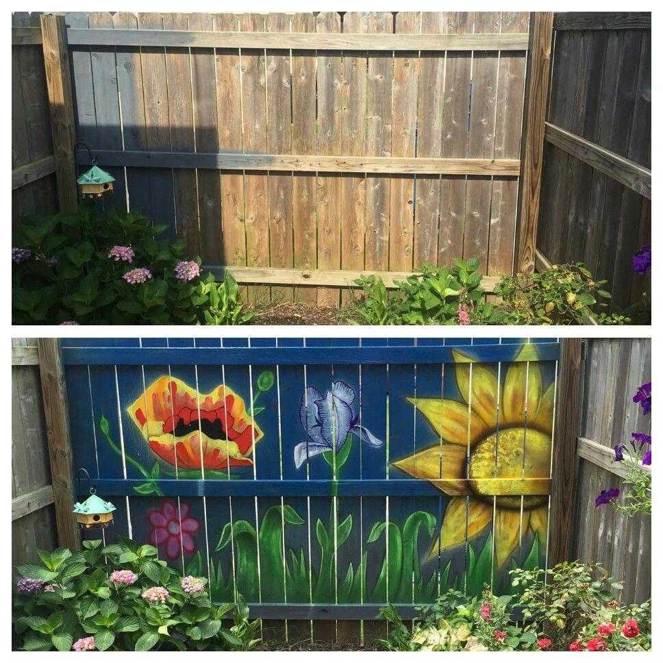 Backyard Fence Painting Ideas