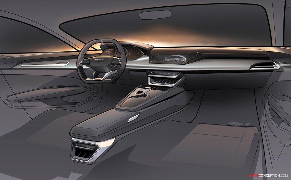 New Audi E Tron Gt Concept Debuts At La Auto Show Car Interior Sketch Audi Interior Interior Sketch