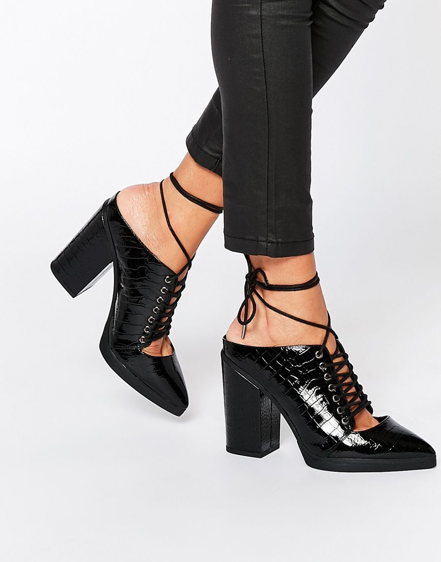 Buy Women Shoes / Asos Overheard Lace Up Mules