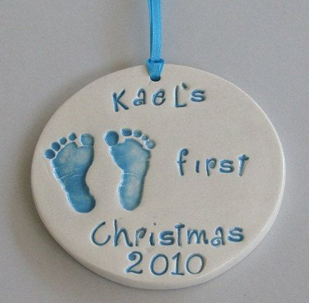 Babys First Christmas Hand Formed Ceramic By Dlpottery On Etsy 10 00