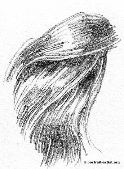 How to draw hair tutorial for the portrait artist lesson on drawing and sketching hair in pencil