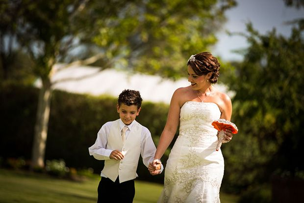 Image result for bride's son walks her down the aisle