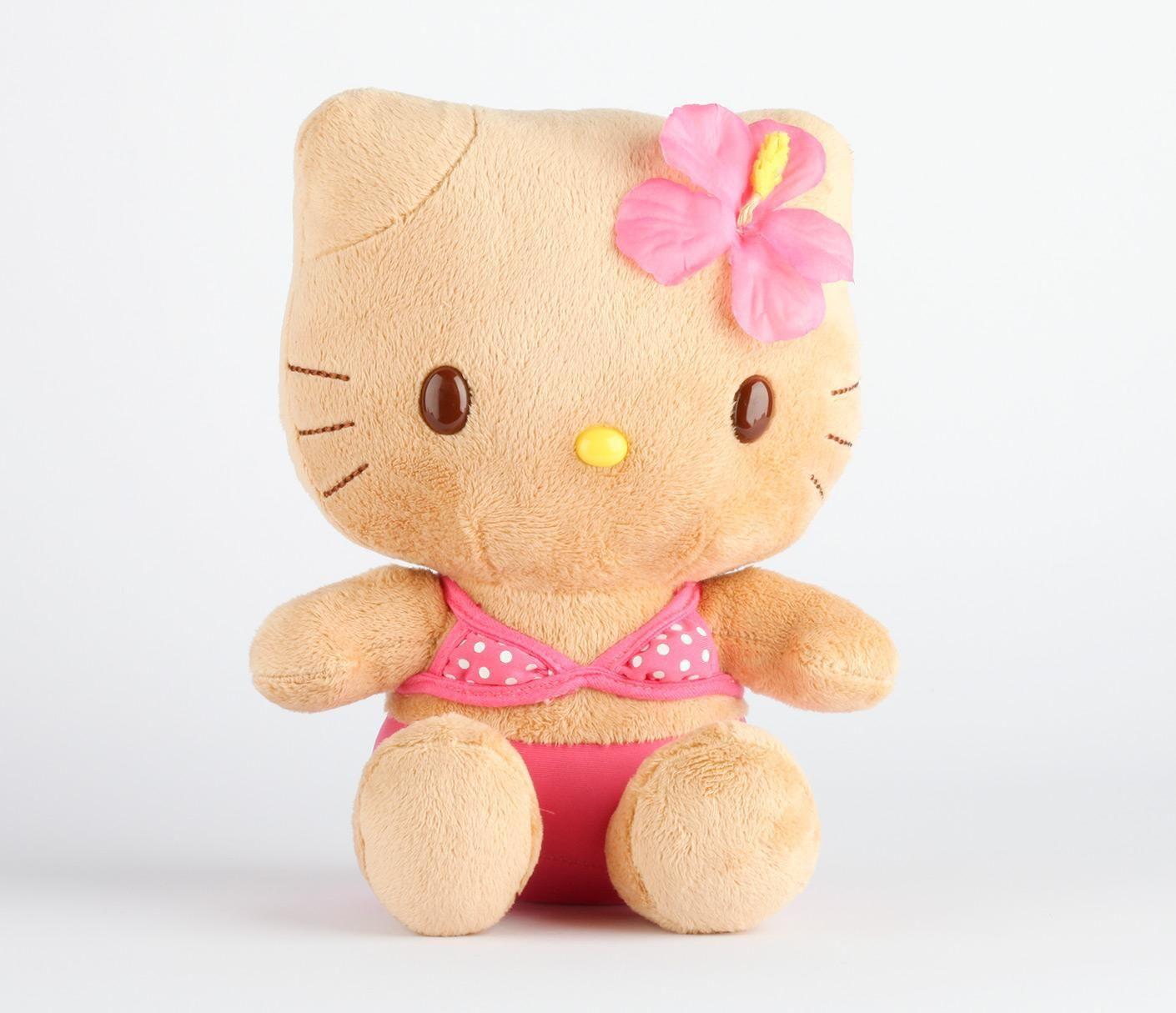 Hello Kitty Plush Hula Hawaii Tanned Cute Soft Stuffed Plush Toys