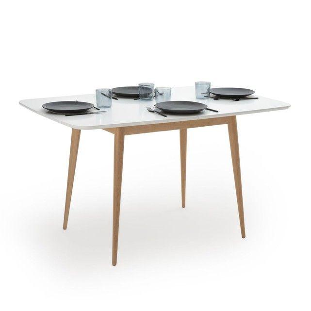 Table Repas A Allonge 2 A 6 Personnes Jimi Blanc La Redoute Interieurs La Redoute Table A Manger En Chene Table A Manger Extensible Table A Manger