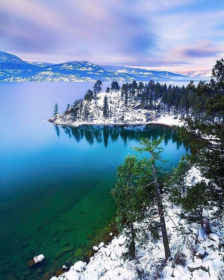 Ellison Provincial Park reveals its winter palette.  taken in @vernontourism by @sndon. #exploreBC #exploreCanada #exploreVernon #BCParks
