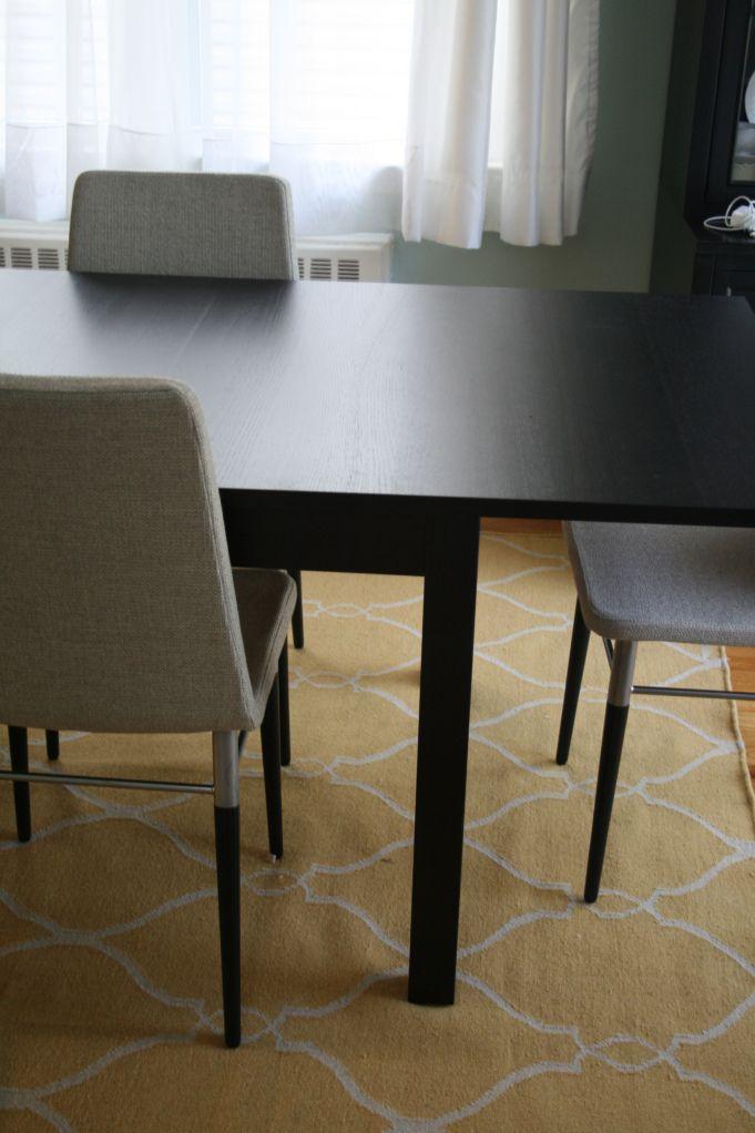 Preben chairs with bjursta table ikea pretty apartment for Table ikea bjursta