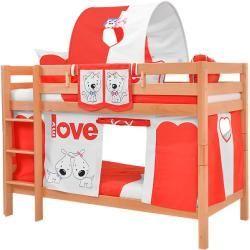 Photo of Cuna / cama para niños, pino macizo, madera natural maciza 103, marco inclinado – 60 x 120 cm (ancho x largo) Ste