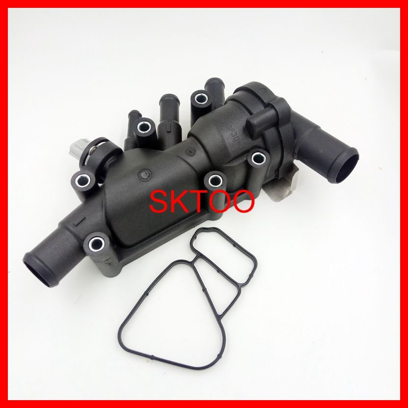 New Thermostat Housing Sensor For 2003 2008 Ford Ka 1 3i 1 6i Duratec Xs6e8a586al Xs6e8a586ag Xs6e8 A586ah New Thermostat Electronic Products Thermostat