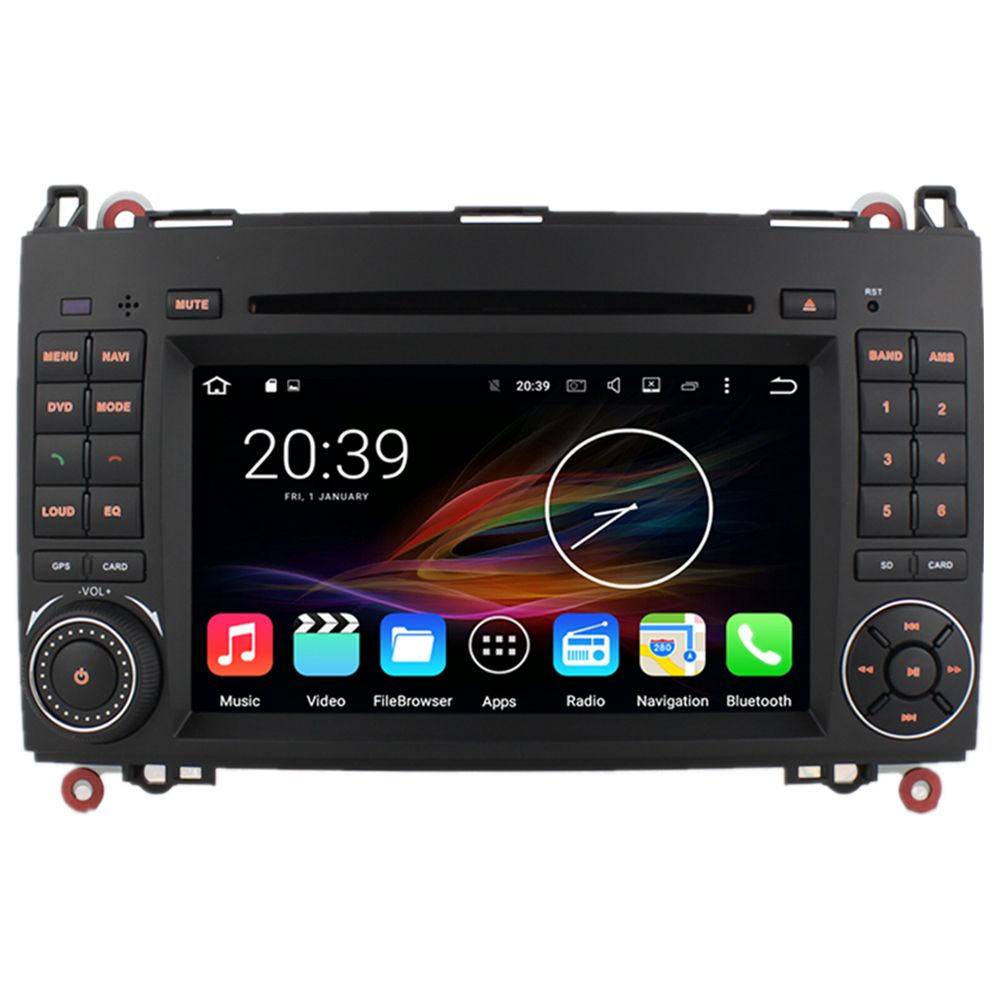 "7"" Octa Core Car Radio DVD GPS Navigation Central Multimedia for Mercedes Benz B200 B170 W169 W245 Viano Vito Sprinter W906 W639"