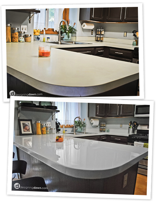 Diy Glossy Painted Counters Dream Home Pinterest Kitchen