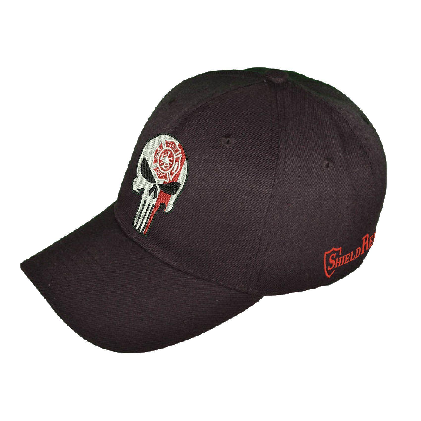 Firefighter flexfit hat hats flexfit blue line