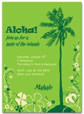 hawaiian invitations templates free hawaiian party invitation