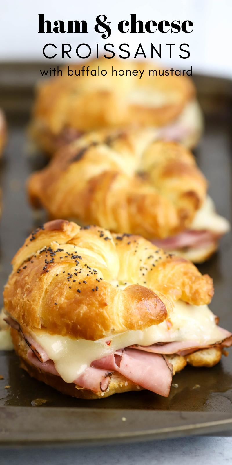 Spicy Buffalo Honey Mustard Ham and Cheese Croissant   Simply Made Recipes