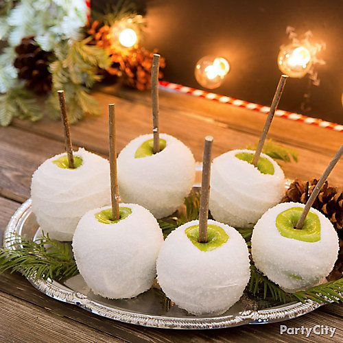 christmas candy apple idea visions of sugar plums are nice but candy apples ready to enjoy are even better we gave them a rustic touch with food safe real - Christmas Candy Apples