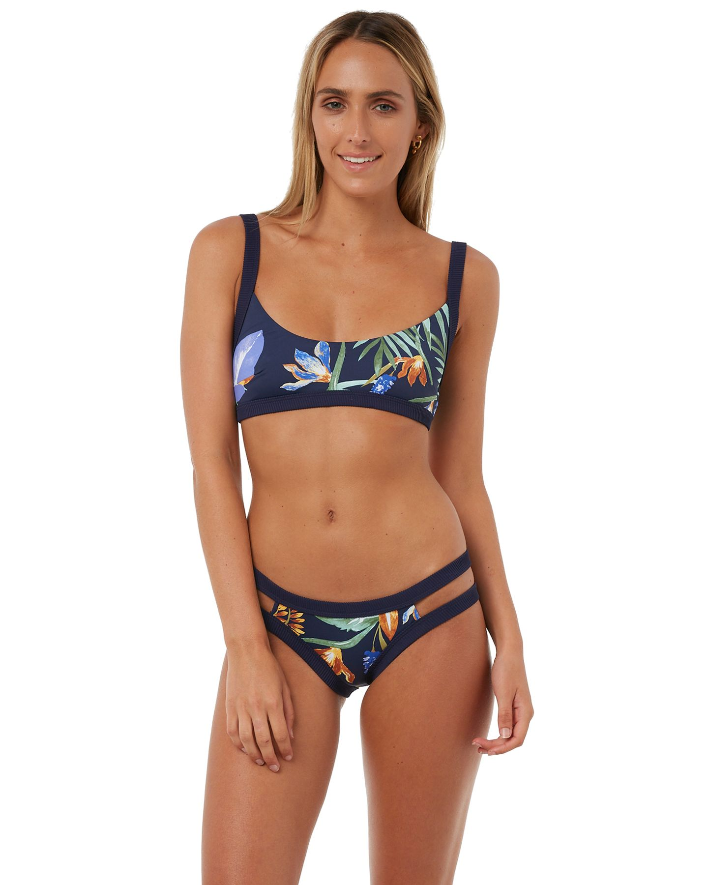 8141b401062 Zulu And Zephyr Jewelflower Bralette Bikini - Multi