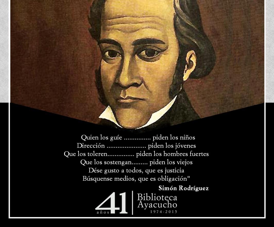 El maestro de América, Simón Rodríguez, parte de nuestra #ColecciónClásica