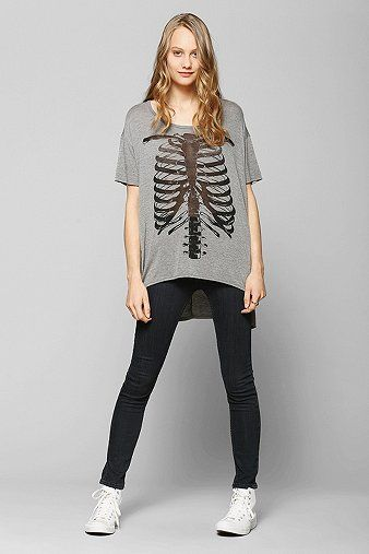 Corner Shop Burnout Skeleton Tee - Urban Outfitters