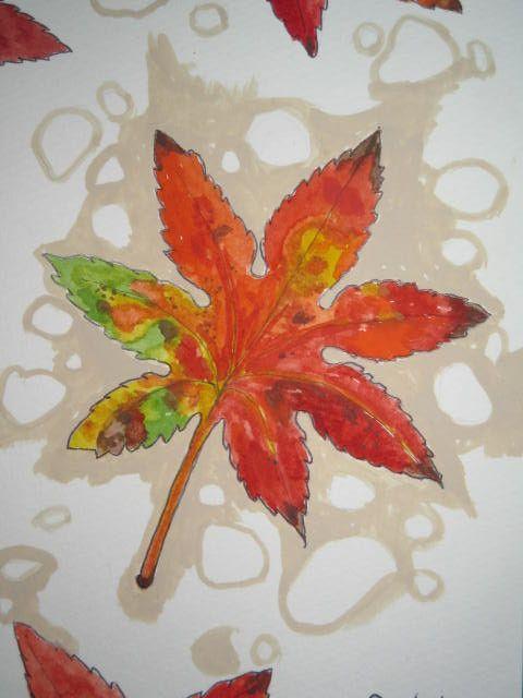 ・ハガキサイズ・画用紙に水彩絵の具使用。・秋の紅葉を 眺めてみませんか?・額なし・写真の額は100円ショップ のハガキサイズの 額です。その他 お気軽にご相談...|ハンドメイド、手作り、手仕事品の通販・販売・購入ならCreema。
