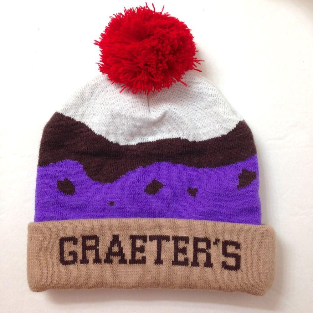 rare GRAETERS ICE CREAM SUNDAE POM BEANIE Cincinnati Ohio Winter Knit Hat  Women  Graeters  Beanie  Everyday 1e244c172
