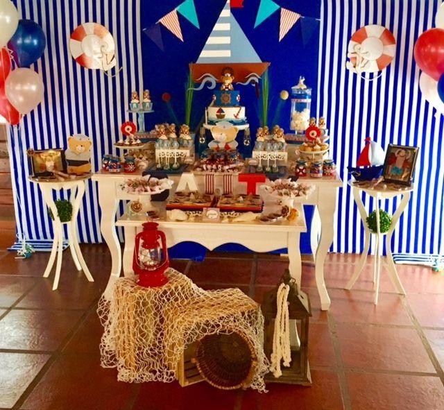 Navy Natical Nautica Party Violeta Glace Cumpleaños Marinero Fiestas Temáticas Marineras Fiesta Náutica