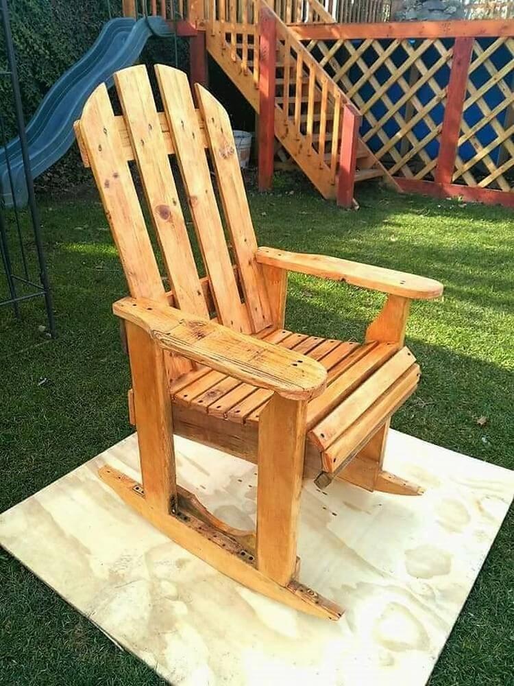 Diy wood pallet rocking chair plan rocking chair plans